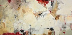 Red Passing by Natasha Barnes - Original Painting on Box Canvas sized 60x30 inches. Available from Whitewall Galleries